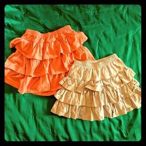 Hanna Andersson sz 130 skort/skirt 🍑 peach/lilac